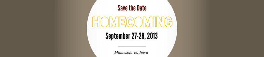 2013 Homecoming Save The Date